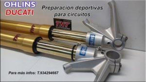 ducati ohlins suspensiones circuito