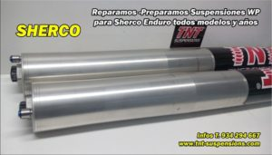 wp sherco suspension horquilla preparada tnt