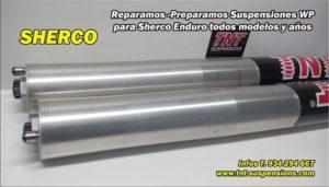 sherco enduro preparación suspensiones wp