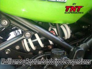 reparar modificar amortiguador moto carretera