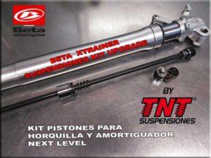 horquilla beta xtrainer con kit de pistones tnt