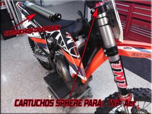 cartuchos sphere para ktm motocross