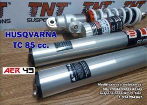 husqvarna tc 85 suspensiones horquilla amortiguador