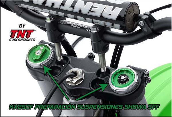 kx250f showa suspensiones preparar