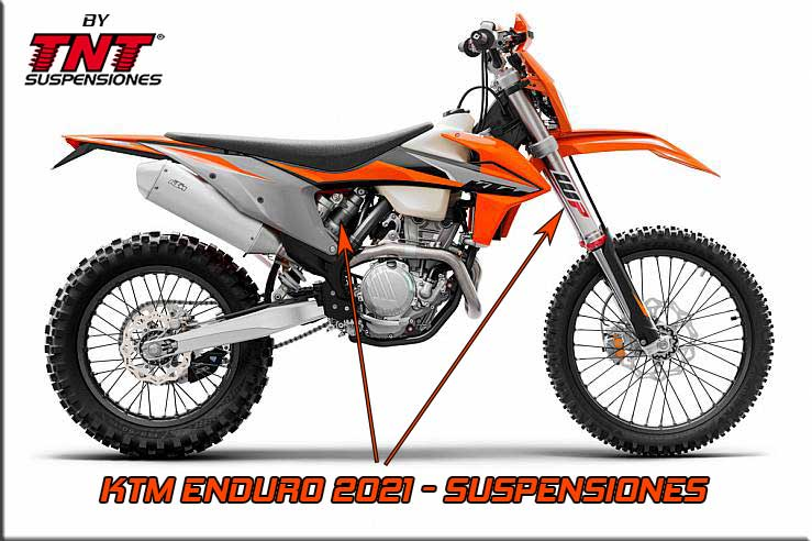 ktm enduro suspensiones preparar wp