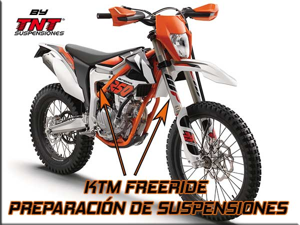 ktm freeride suspensiones wp preparadas