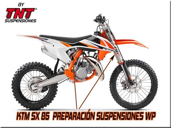 ktm sx 85 suspensiones wp tnt