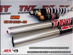 suspensiones racing competición para ktm 85