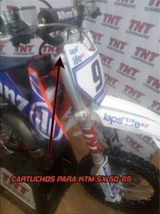 ktm sx 50 65 suspensiones preparaciones tnt