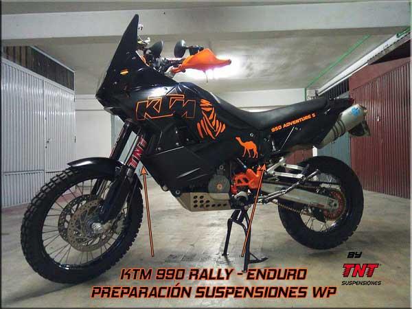 ktm 990 adventure suspensiones preparacion
