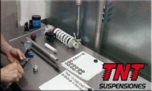 preparación de suspensiones para moto