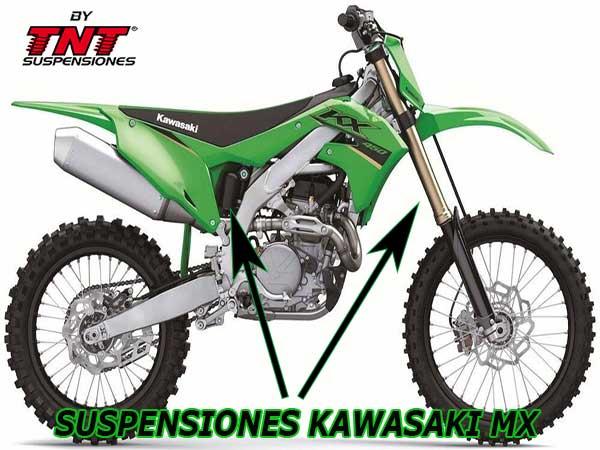 suspensiones kawasaki kx250 kx450 motocross tnt
