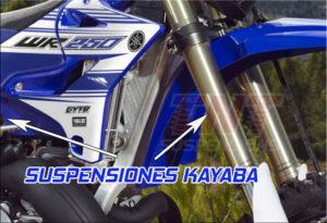 yamaha wr250f wr450f suspensiones kayaba enduro